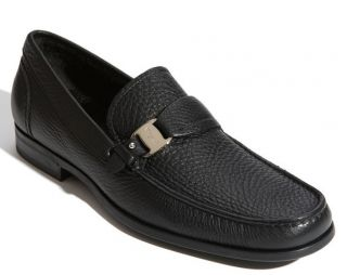 Salvatore Ferragamo Bravo Black Loafer Moccasin Size 10 D $480