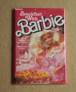 Breakfast with Barbie Fridge Magnet Cereal Box 80s Doll Dream House