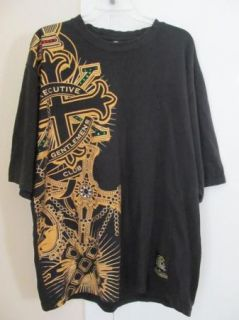 Unit XXL Black T Shirt Tshirt 2XL Rhinestones Executive Gentlemens