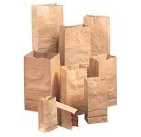 Brown Kraft Natural Paper Grocery Bags 500 PK