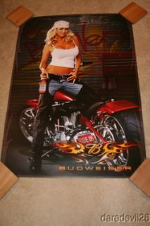 2005 Budweiser Motorcycle Grid Girl Daytona Bike Week Promo poster