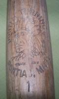 Early 1900s Pontiac Turning Co Michigan Wood Baseball Bat Indian Chief