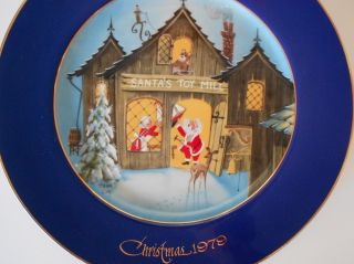 Collectors Christmas Plate 1979 Brian Day Santa Mrs. Clause Limited