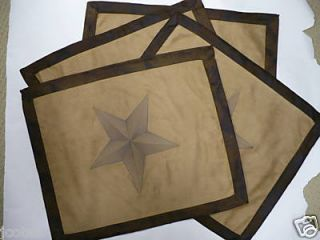 Western Decor Rustic Star Table Placemats 4 Settings