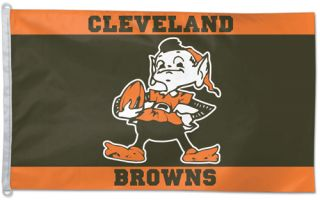 Cleveland Browns BROWNIE 1950s Style NFL Football Official 3 by 5 foot