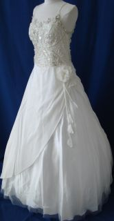 Sale Formal Bridal Wedding Dress Ball Gown Party Prom Ivory 12