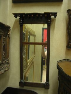 antique mid 19th century mahogany federal period mirror time left