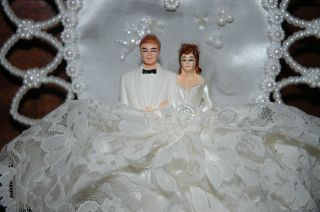 Vintage WEDDING Cake Topper Set BRIDE Groom Bridesmaids and Groomsmen