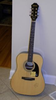 Epiphone Dr 100NA Guitar Signed by Bridgit Mendler