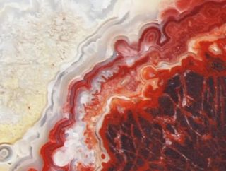 Slab Mexican Crazy Lace Agate Beautiful Colors Pattern