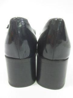Bruno Magli Black Leather Open Toe T Strap Sandals 10