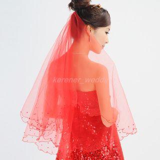 White Ivory Embroider Bridal Veil Wedding Veil