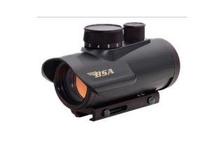 BSA Optics Huntsman 1x30 Illuminated Red/Green/Blue Dot Sight, Matte