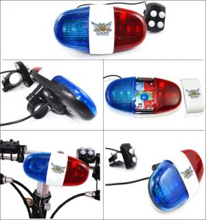 Bright Ideas Red and Blue Police Light Bicycle Power Horn Siren