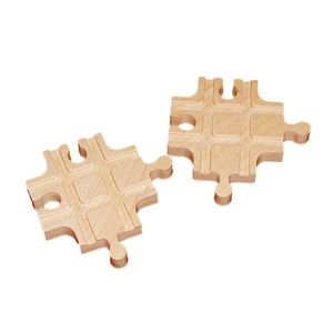 New Wooden Cross Track Set of 2 Fit Thomas Train Brio