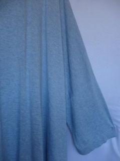 Pure J Jill Light Blue Cotton Oversized Tunic Lagenlook Asymm 84