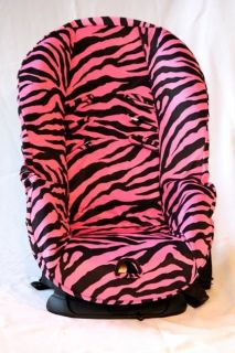 BABY CAR SEAT COVER FITS BRITAX MARATHON. PINK ZEBRA DESIGN. SOFT AND