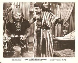 Yul Brynner E G Robinson The Ten Commandments Orig