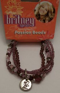 OFFICIAL Britney Spears PASSION BEADS Collector Bracelet FAIRY Charm