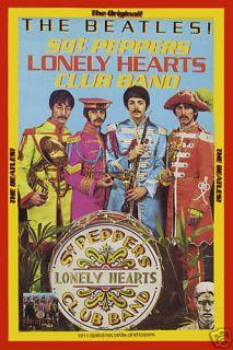 British Invasion The Beatles Sgt Pepper Capitol Promo Poster Circa