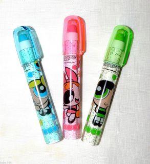 New Powerpuff Girls 3 Eraser Bubbles Buttercup Blossom