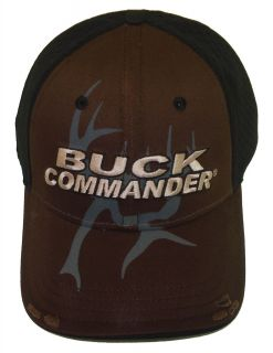 Buck Commander Black and Brown 2 Tone Jersy Deer Hunting Hat Cap