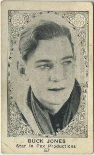 Buck Jones Cowboy Vintage 1920s E123 American Caramel Trading Card