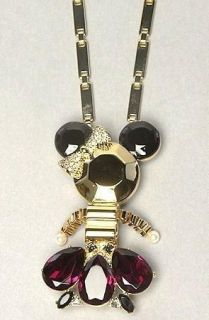 125 Disney Couture Minnie Mouse Rhinestone Pendant Pin Mawi Gold