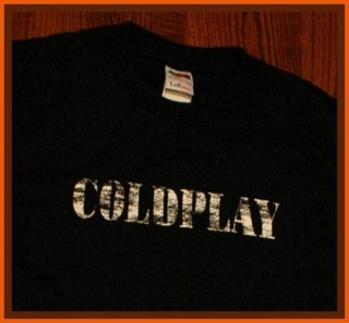Coldplay Chris Martin Jonny Buckland Logo T Shirt L