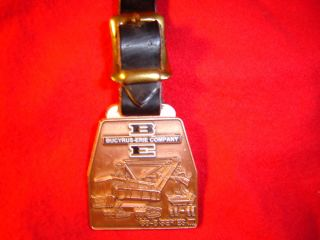 BUCYRUS ERIE STEAM SHOVEL TRACTOR WATCH FOB