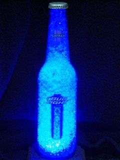 Bud Light Platinum Beer LumiBottle LED bottle, bar lamp light, BLUE