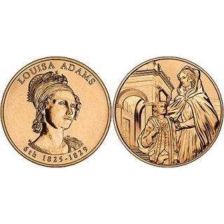 Louise Adams Bronze Medal US Mint Velvet Case 2008
