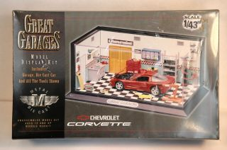 Great Garages Chevrolet Corvette Metal Die Cast 1 43rd Scale by Estes