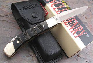 Schrade Uncle Henry Smoky Buffalo Horn Lockback Knife LB5B LB5