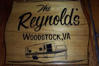 DOOR TRAVEL TRAILER Top QUALITY PERSONALIZED Hand Painted Wood Sign