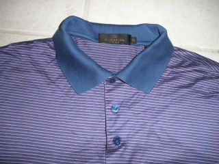 Bugatchi Uomo Mens Polo Shirt XXL 100 Egyptian Cotton Purple Blue