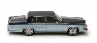 Cadillac Fleetwood Brougham 2 Tone Blue 1980 Neo Scale 1 43 43556
