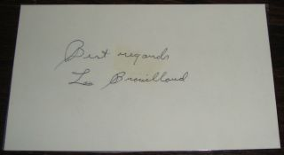 LOU BROUILLARD WW MW WORLD CHAMPION HALL OF FAMER BOXING AUTOGRAPHED