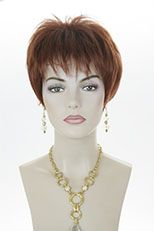 Arty Youthful and Chic Short Straight Edgy Tapered Cut Blonde Red Wigs