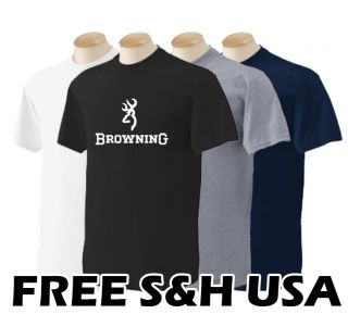 Browning Firearms Hand Gun Pistol Shotgunlogo Adult Mens Graphic Tee