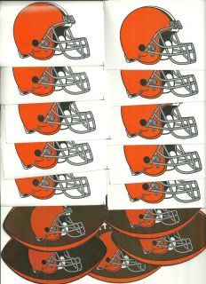 20 NFL Cleveland Browns and 5 Jersey Stickers