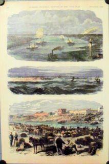 Texas Civil War Views 1863 Brownsville Sabine Reprint