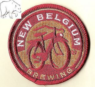 New Belgium Brewing bicycle logo round window decal, beer Colorado Fat