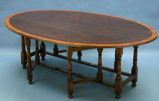 antique style irish wake solid oak gateleg dining table time