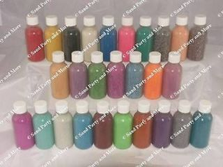 50  2 oz Sand Art Bottles w/sand arts crafts Screw Cap