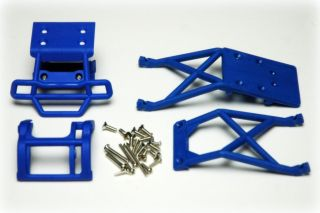 Traxxas Son UVA Digger Blue Bumpers Skid Plates 2WD Stampede 3621X
