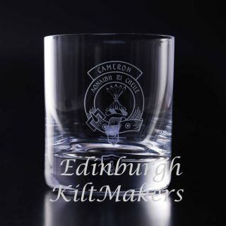 Smith Clan Crested Crystal Whiskey Glass Burns Crystal Whisky Glasses