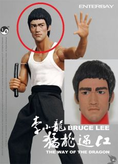 Bruce Lee Way of Dragon 1 6 Head Sculpt Hot Toys DX04 Game of Death