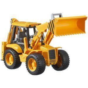 Bruder Toys Loader Back Hoe Truck Kids Boys Sand Dirt Shovel Realistic