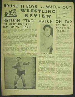 Wrestling Program 1961 Edmonton Mighty Ursus Marella